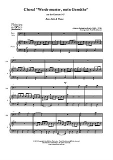 Jesus bleibet: For bass-solo and piano by Johann Sebastian Bach