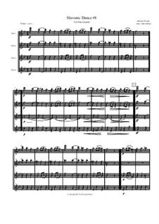 No.8 Furiant: para quarteto de flauta by Antonín Dvořák