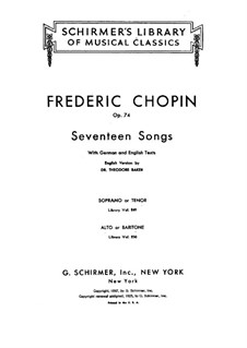 Seventeen Polish Songs, Op.74: set completo by Frédéric Chopin