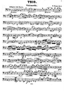 Piano Trio in G Minor, Op.8: parte violoncelo by Frédéric Chopin