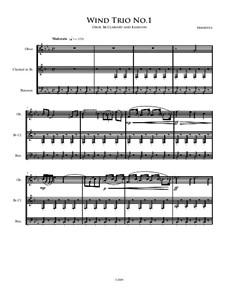 Trio for Woodwinds: Trio for Woodwinds by Irminsul Harp