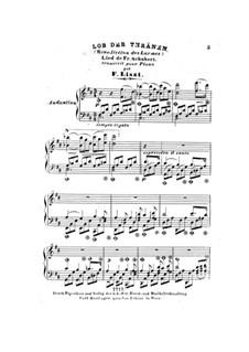 Lob der Tränen (In Praise of Tears), D.711 Op.13 No.2: Para Piano by Franz Schubert