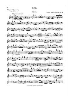 Petite école de la mélodie. Polka, Op.123 No.6: Parte de solo by Charles Dancla