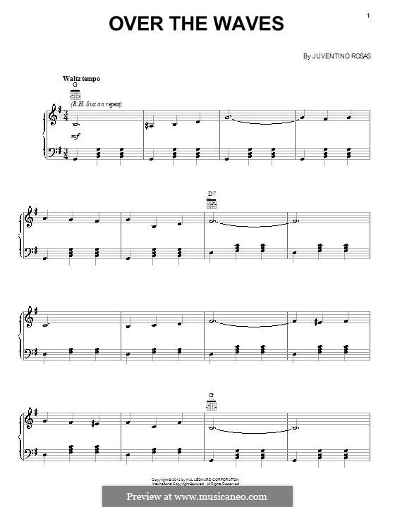 Sobre las olas (Over the Waves): Para Piano by Juventino Rosas
