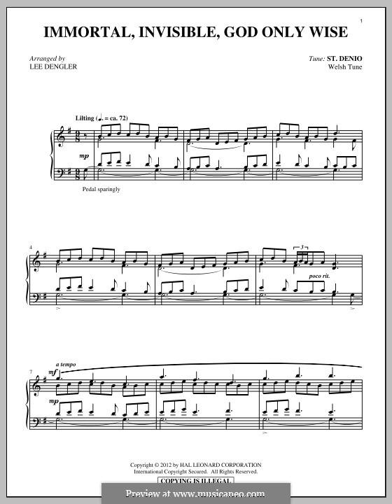 Immortal, Invisible: Para Piano by folklore