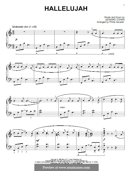 Piano version: para um único musico (Editado por H. Bulow) by Leonard Cohen