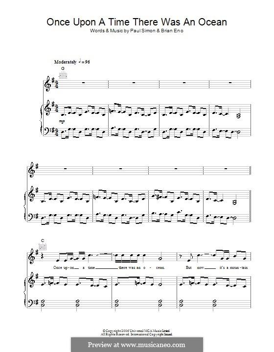 Once Upon a Time There Was an Ocean: Para vocais e piano (ou Guitarra) by Brian Eno, Paul Simon