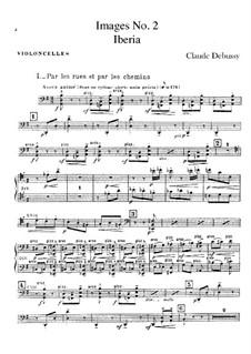 Set III, No.2 Iberia, L.122: Parte Violoncelo by Claude Debussy