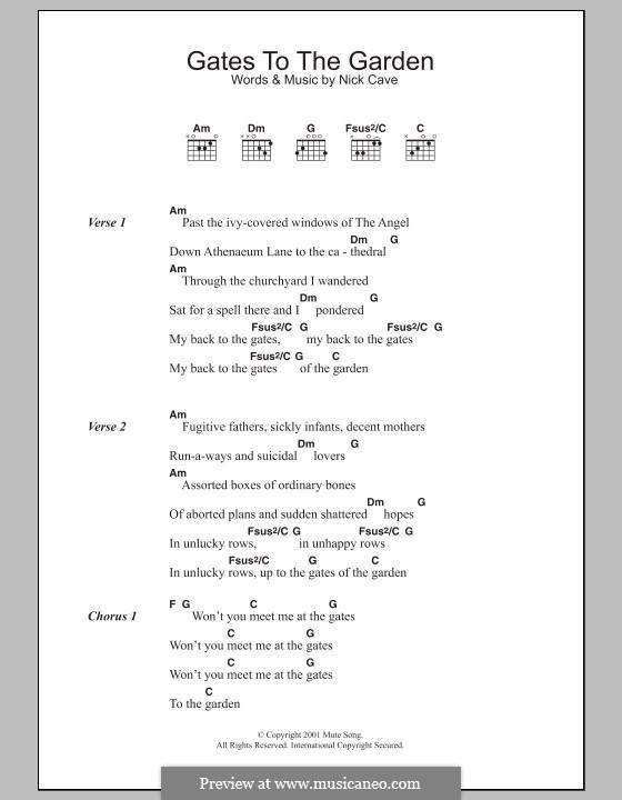 Gates to the Garden: Letras e Acordes by Nick Cave