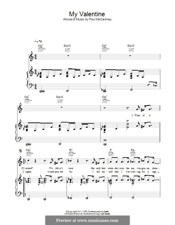 My Valentine: Para vocais e piano (ou Guitarra) by Paul McCartney