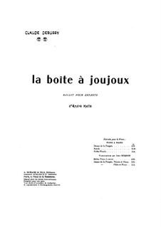 La boîte à joujoux (The Toybox), L.128: para piano de quadro mãos by Claude Debussy