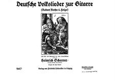 German Folksongs with Guitar: Robert Rothe 4. Series by Heinrich Scherrer