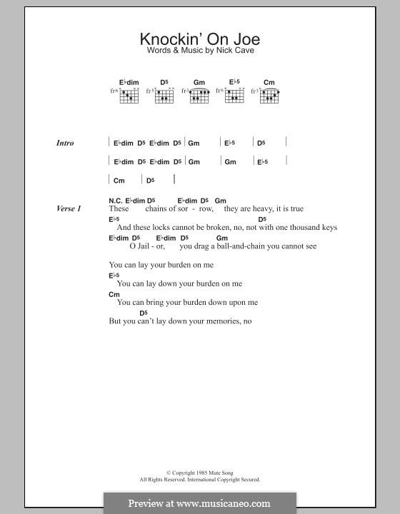 Knockin' on Joe: Letras e Acordes by Nick Cave