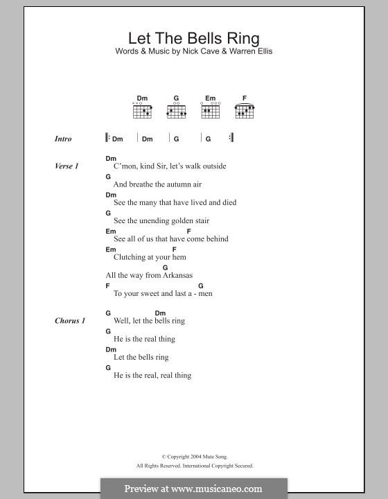 Let the Bells Ring : Letras e Acordes by Nick Cave, Warren Ellis