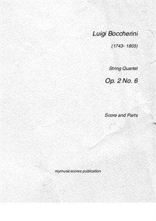 String Quartet, Op.2 No.6: Quarteto de cordas by Luigi Boccherini