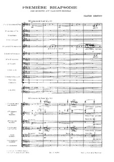 Rhapsody No.1 in G Flat Major, L.116: Partitura completa by Claude Debussy