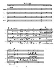 Voices of Women: Choral part (Version A and B) by Nancy Van de Vate