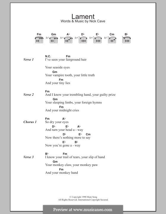 Lament: Letras e Acordes by Nick Cave