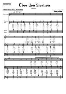 Über den Sternen (Above Stars): For soprano and mixed choir, Op.391 by Franz Wilhelm Abt