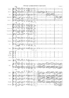Концерт для фортепиано и симфонического оркестра: Концерт для фортепиано и симфонического оркестра by Ekaterina Anisimova