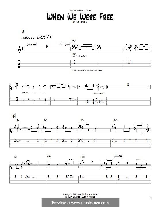 When We Were Free: Para Guitarra by Pat Metheny