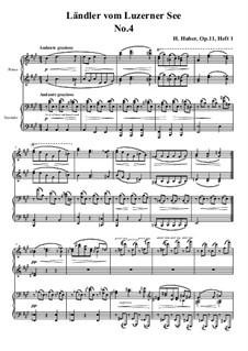 Fünfzehn Ländler vom Luzerner See, Op.11: Ländler Nr.4 by Hans Huber