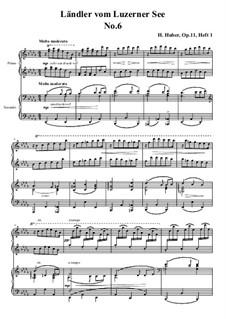 Fünfzehn Ländler vom Luzerner See, Op.11: Ländler Nr.6 by Hans Huber