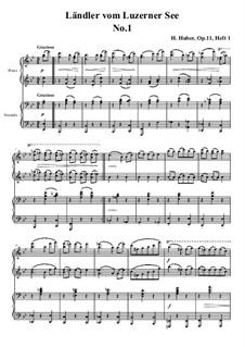 Fünfzehn Ländler vom Luzerner See, Op.11: Vollständiger Satz by Hans Huber