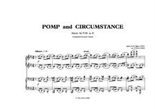March No.1: para piano de quadro mãos by Edward Elgar