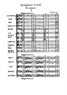 Symphony No.2 in B Minor: partitura completa by Alexander Borodin
