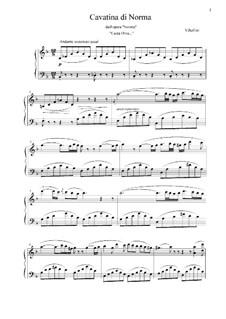 Casta diva, che inargenti: Piano-vocal score, solo part by Vincenzo Bellini
