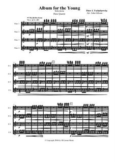 Selections for Flute Quartet: Selections for Flute Quartet by Pyotr Tchaikovsky