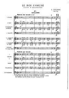 Le roi s'amuse: partitura completa by Léo Delibes