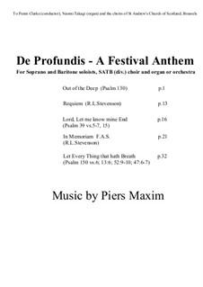 De Profundis - A Festival Anthem: De Profundis - A Festival Anthem by Piers Maxim