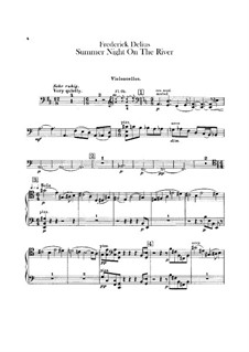 Summer Night on the River: Parte Violoncelo by Frederick Delius
