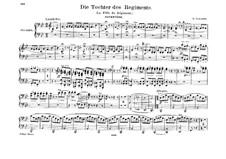 La fille du régiment (The Daughter of the Regiment): Overture, para piano para quatro mãos by Gaetano Donizetti