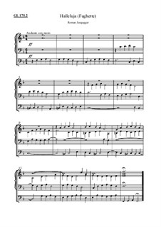Halleluja, Gotteslob Nr.175.2 (Fughette): Halleluja, Gotteslob Nr.175.2 (Fughette) by Roman Jungegger