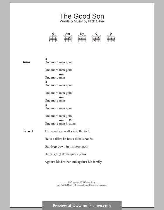 The Good Son: Letras e Acordes by Nick Cave