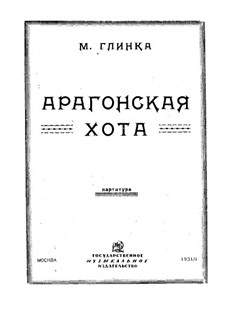 Jota Aragonese: partitura completa by Mikhail Glinka