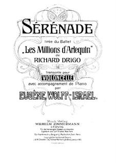 Les millions d'Arlequin: Serenade, for Cello and Piano by Riccardo Drigo