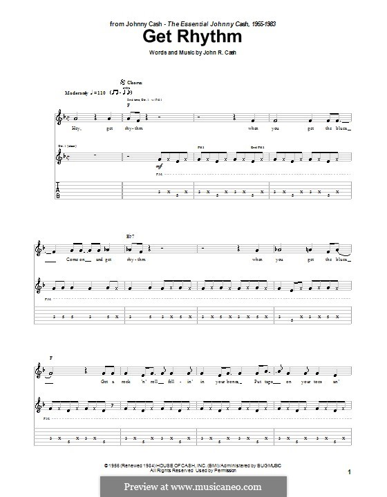 Get Rhythm: Para Guitarra by Johnny Cash