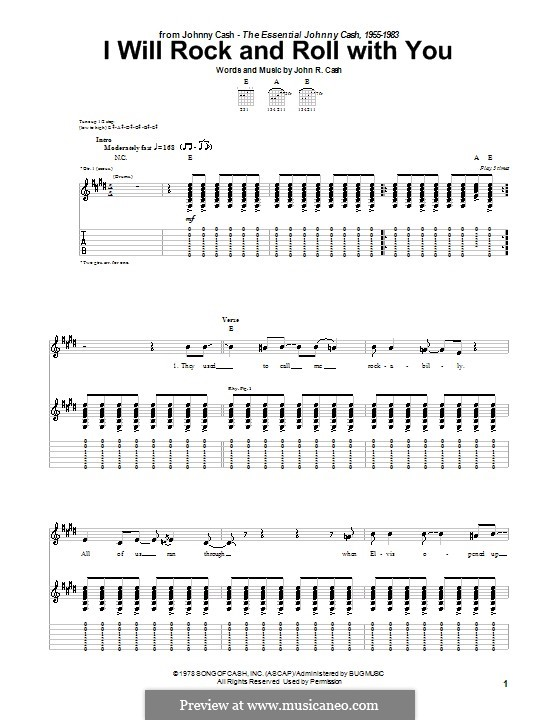 I Will Rock and Roll with You: Para Guitarra by Johnny Cash