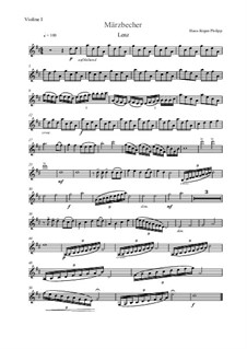 Märzbecher: Nr.3 Lenz – Violinstimme I by Hans-Jürgen Philipp