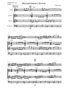 Memories of Cologne: For quartet by Vladimir Malganov