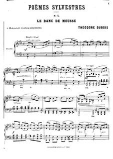 Poèmes sylvestres: No.4 Le banc de mousse by Théodore Dubois