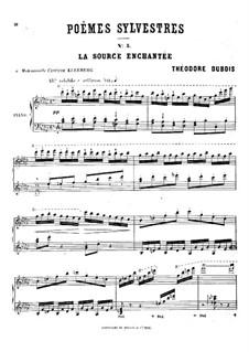 Poèmes sylvestres: No.5 La source enchantée by Théodore Dubois