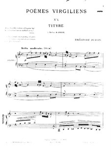 Poèmes virgiliens: No.1 Tityre by Théodore Dubois