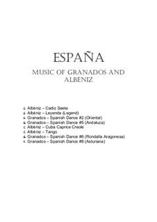 Spanish Music of Granados and Albeniz: For flute and clarinet duet by Isaac Albéniz, Enrique Granados