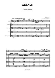 Solace: For flute, violin, viola and cello by Scott Joplin