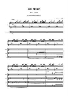 Ave Maria: For strings and piano by Johann Sebastian Bach, Charles Gounod